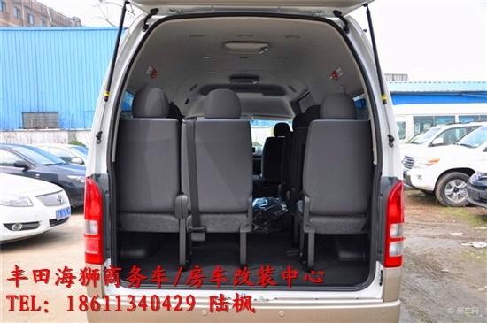 丰田海狮13座面包车内饰 座椅改装